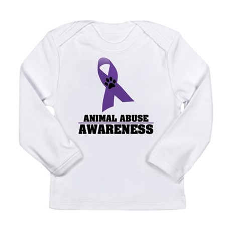 Animal Abuse Awareness Long Sleeve Infant T-Shirt
