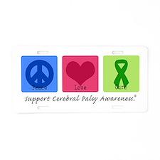 Peace Love Cure CP Aluminum License Plate