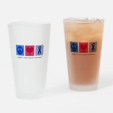 Peace Love Colon Cancer Pint Glass