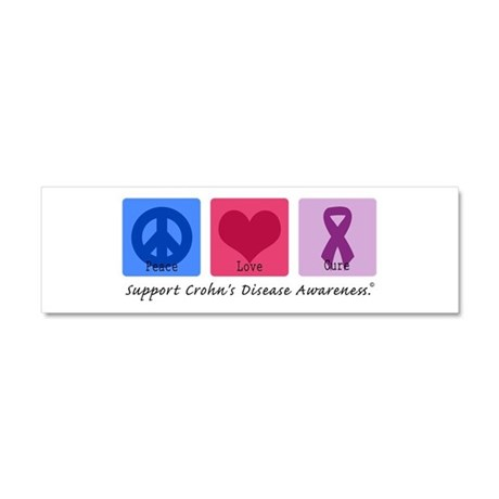 Peace Love Crohn's Car Magnet 10 x 3
