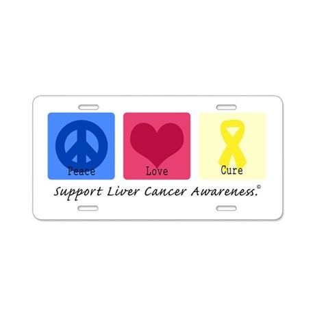 Peace Love Cure LC Aluminum License Plate