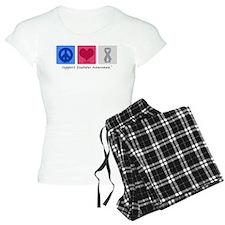 Peace Love Cure Diabetes Pajamas