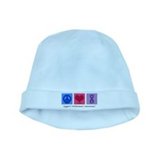 Peace Love Cure AD baby hat