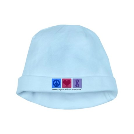 Peace Love Cure CF baby hat