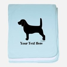 Beagle - Your Text! baby blanket