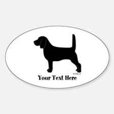 Beagle - Your Text! Sticker (Oval)