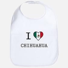 I Love Chihuahua Bib