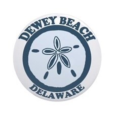 Dewey Beach DE - Sand Dollar Design Ornament (Roun