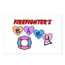 Firefighter's Baby Postcards (Package of 8)