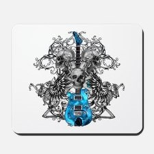 Praying Angel Skeleton Guitar Mousepad