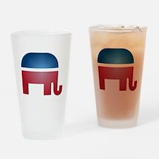 Blurry Elephant Pint Glass