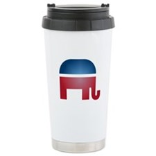 Blurry Elephant Travel Mug