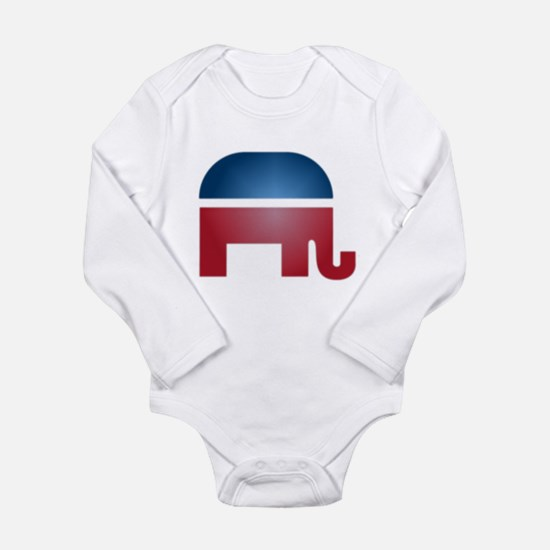 Blurry Elephant Long Sleeve Infant Bodysuit