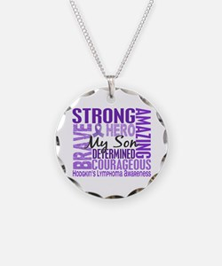Tribute Square Hodgkin's Lymphoma Necklace