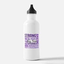 Tribute Square Hodgkin's Lymphoma Water Bottle