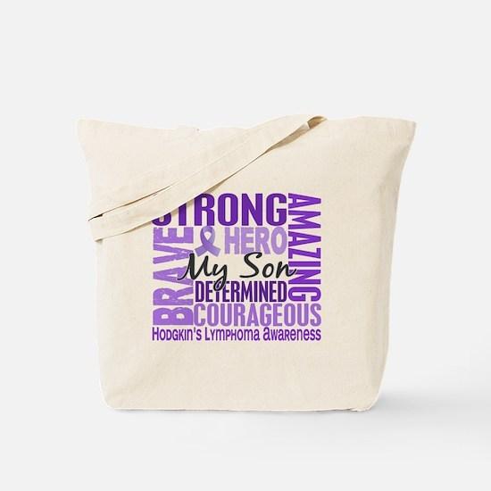 Tribute Square Hodgkin's Lymphoma Tote Bag