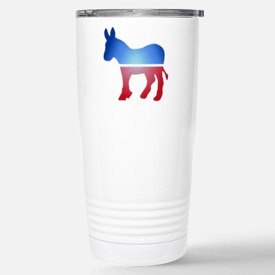Blurry Donkey Stainless Steel Travel Mug