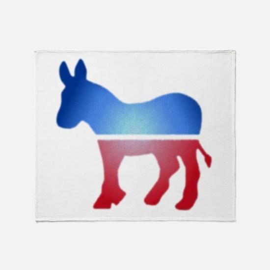 Blurry Donkey Throw Blanket