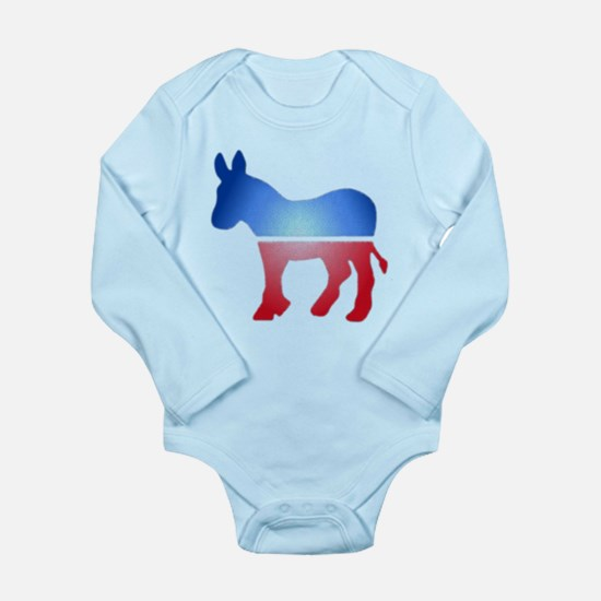 Blurry Donkey Long Sleeve Infant Bodysuit
