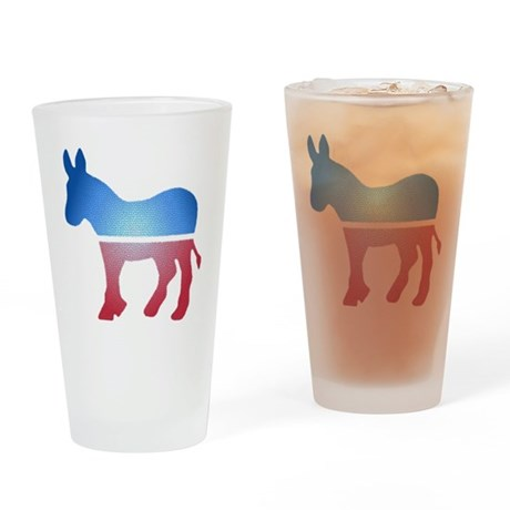 Stained Glass Donkey Pint Glass