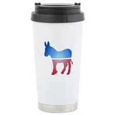 Stained Glass Donkey Travel Mug