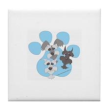 3 Schnauzers Tile Coaster