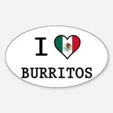I Love Burritos Decal