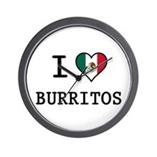 I Love Burritos Wall Clock