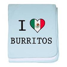 I Love Burritos baby blanket