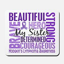 I Wear Violet 46 Hodgkin's Lymphoma Mousepad