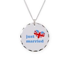 just married (his, union jack Necklace