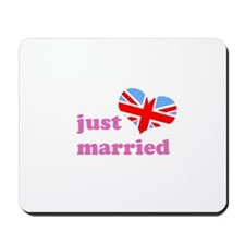 just married (hers, union jac Mousepad