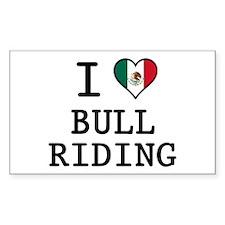I Love Bull Riding Decal