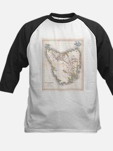 Vintage Map of Tasmania (1837) Baseball Jersey