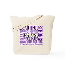 I Wear Violet 46 Hodgkin's Lymphoma Tote Bag
