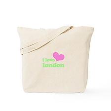 i love london (pink/green) Tote Bag