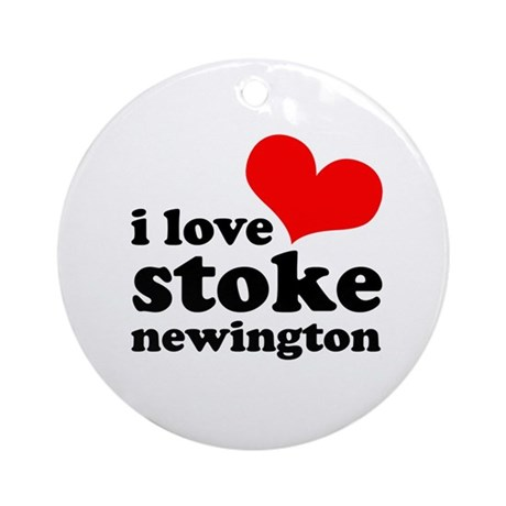 i love stoke newington (red/b Ornament (Round)