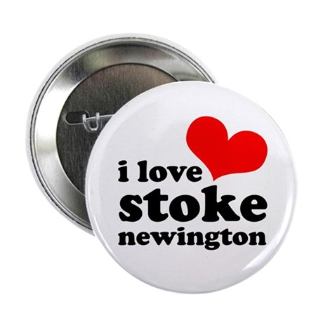 "i love stoke newington (red/b 2.25"" Button (100 pa"