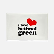 i love bethnal green (red/bla Rectangle Magnet