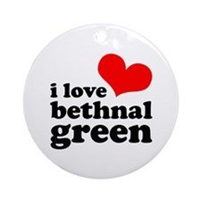 i love bethnal green (red/bla Ornament (Round)