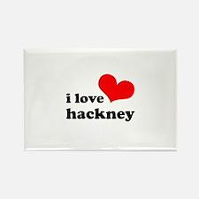 i love hackney (red/black) Rectangle Magnet
