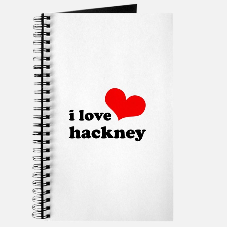 i love hackney (red/black) Journal