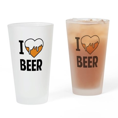 I Love Beer Pint Glass