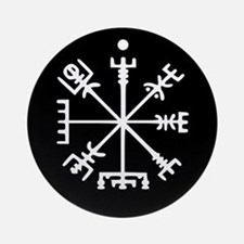 Viking Compass : Vegvisir Ornament (Round)