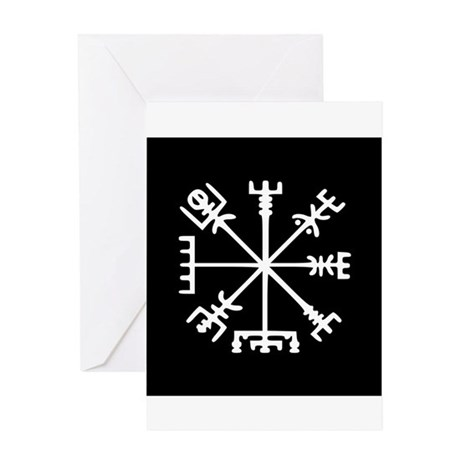Viking Compass : Vegvisir Greeting Card