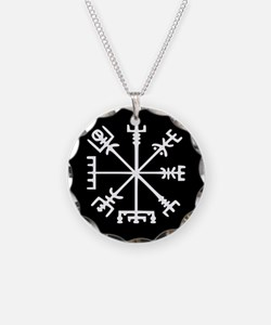 Viking Compass : Vegvisir Necklace Circle Charm
