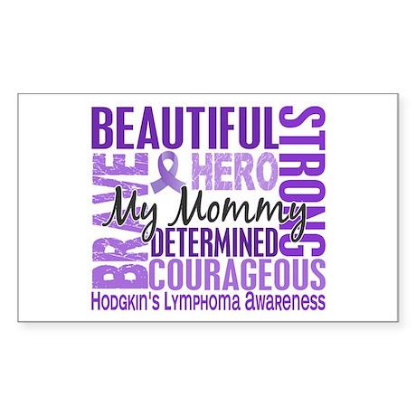 I Wear Violet 46 Hodgkin's Lymphoma Sticker (Recta