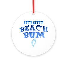Unique Beach bum Ornament (Round)