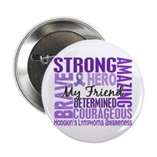 "I Wear Violet 46 Hodgkin's Lymphoma 2.25"" Button ("
