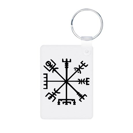 Viking Compass : Vegvisir Aluminum Photo Keychain